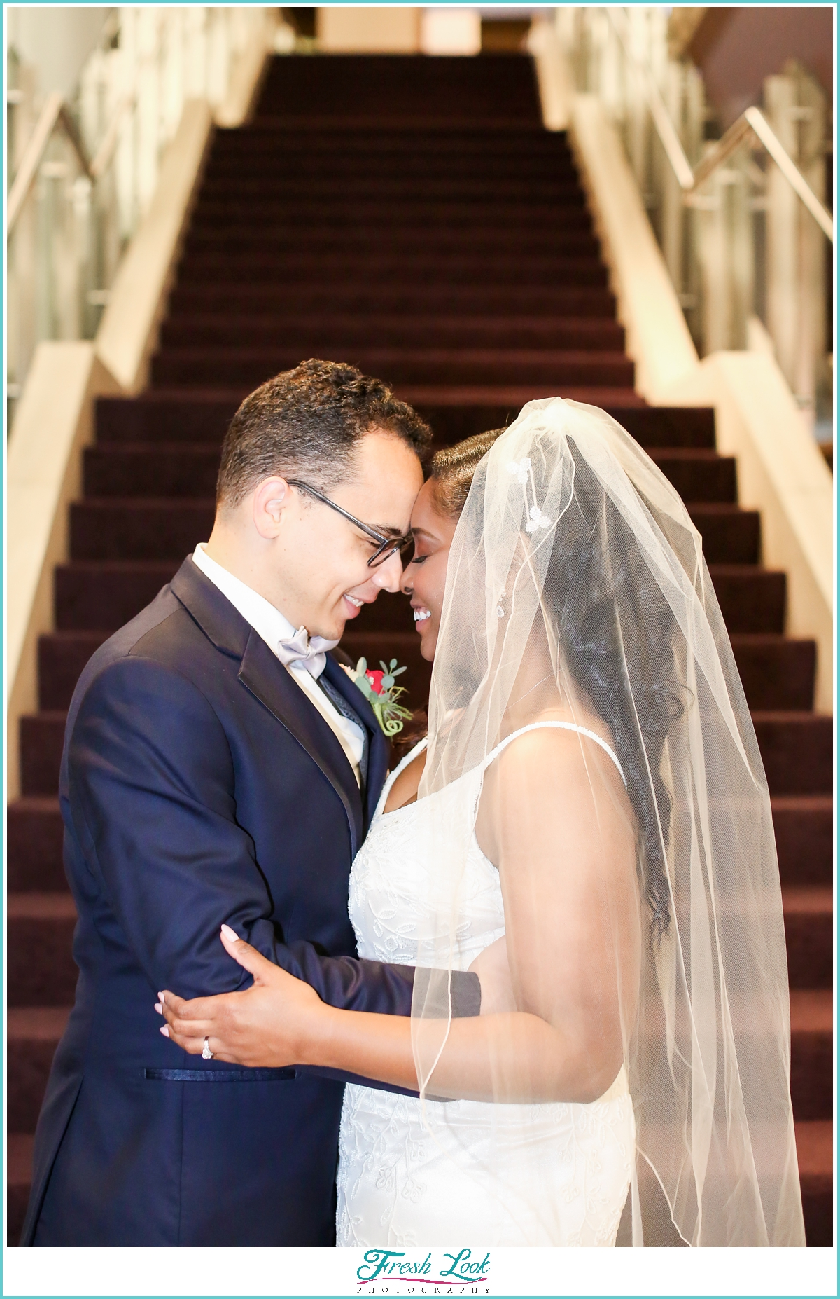 bride and groom portraits at Sandler Center Virginia Beach
