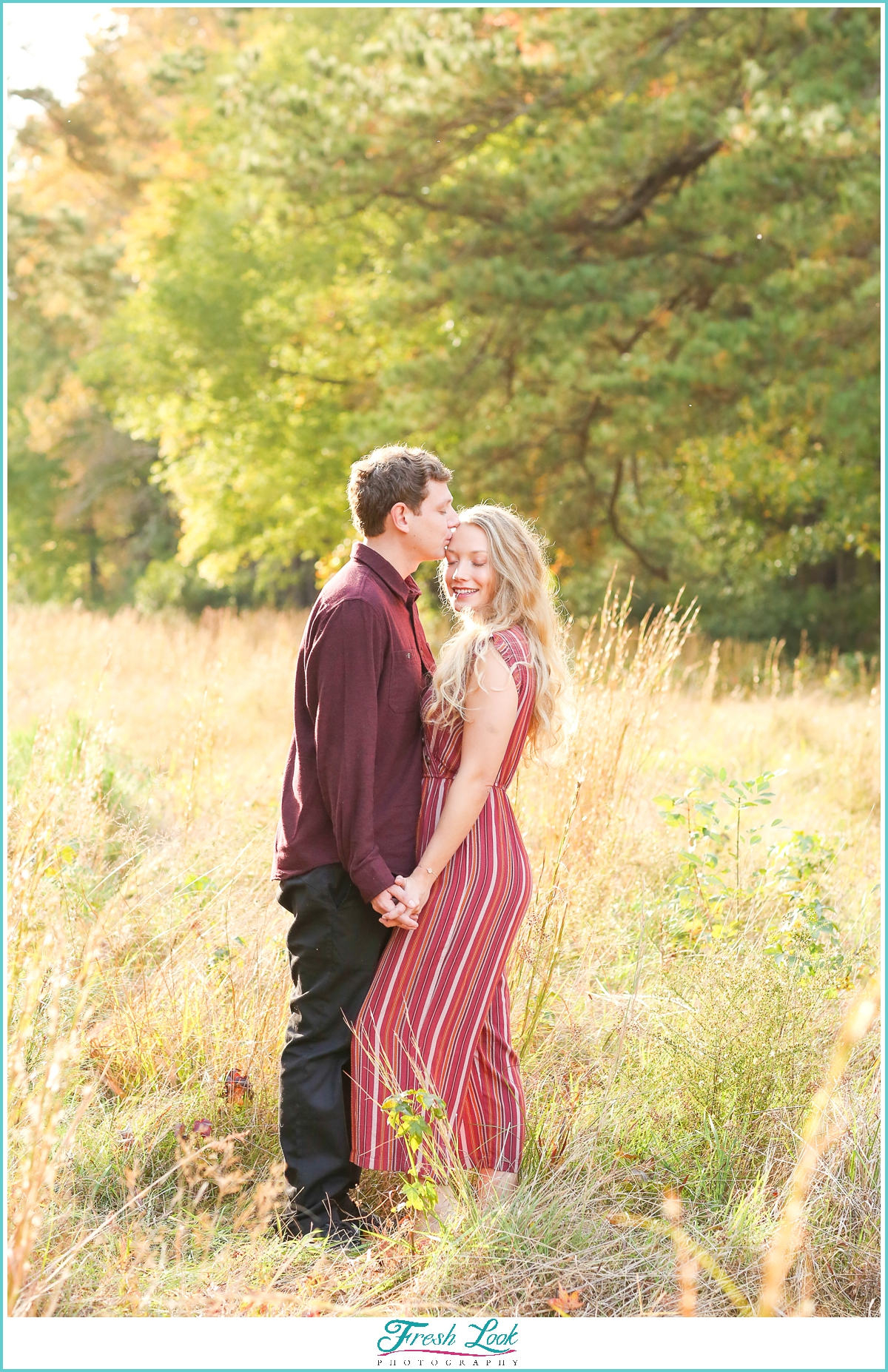 romantic afternoon engagement session