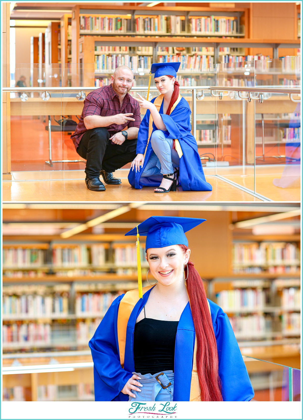 Cap and Gown photos with dad