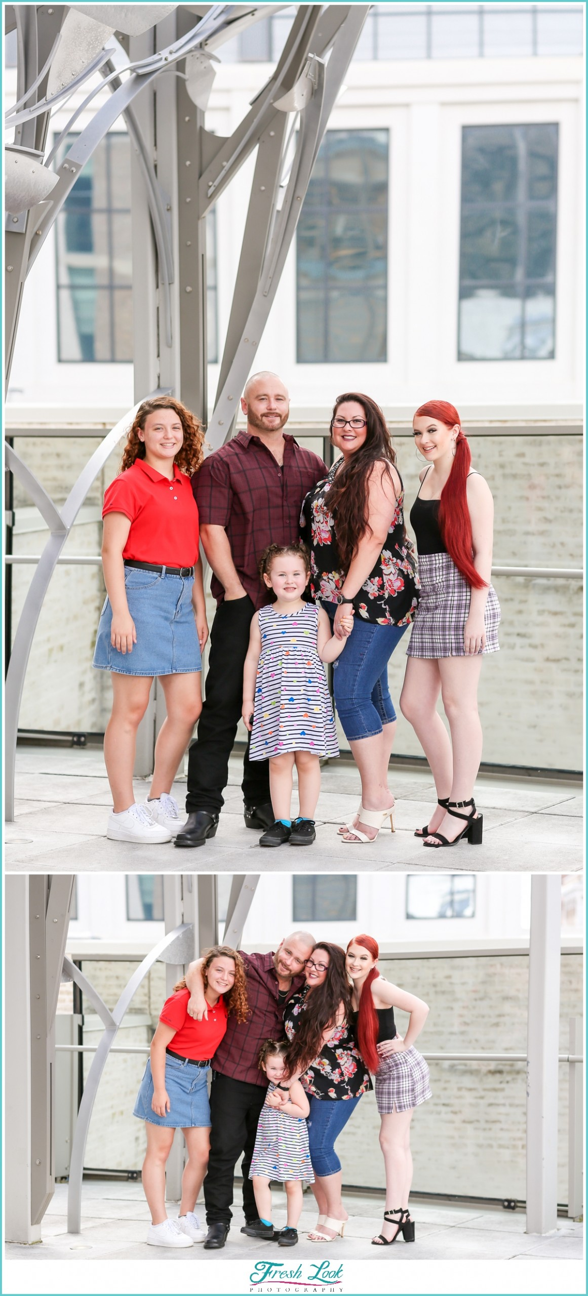 family photos at Slover Library