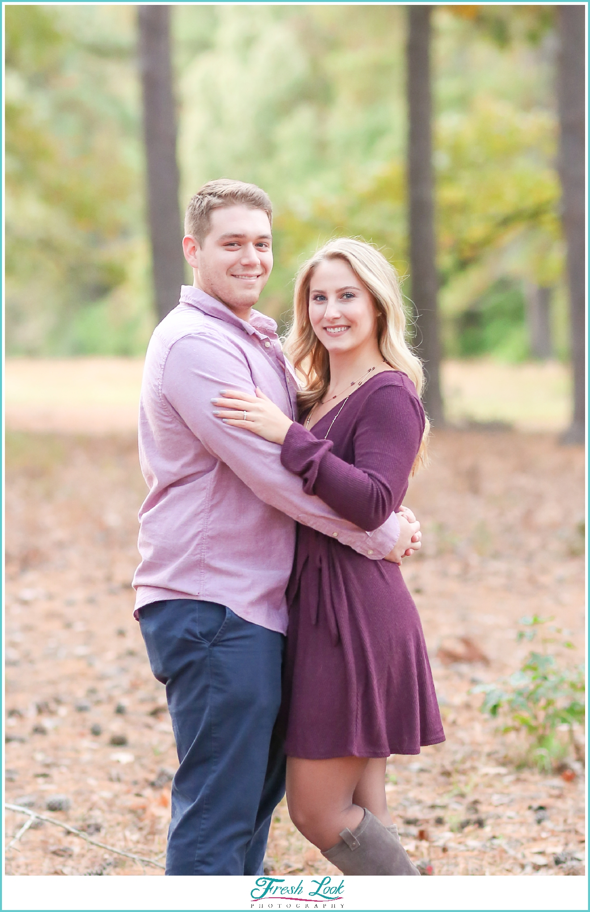 romantic woodsy engagement session