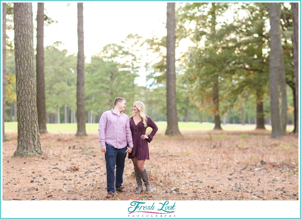 Engagement photoshoot at Stumpy Lake