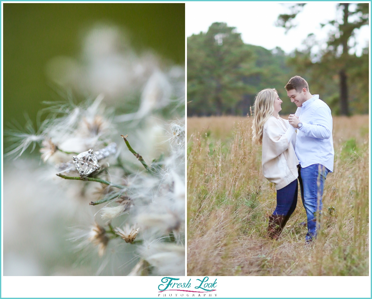 romantic dancing engagement session