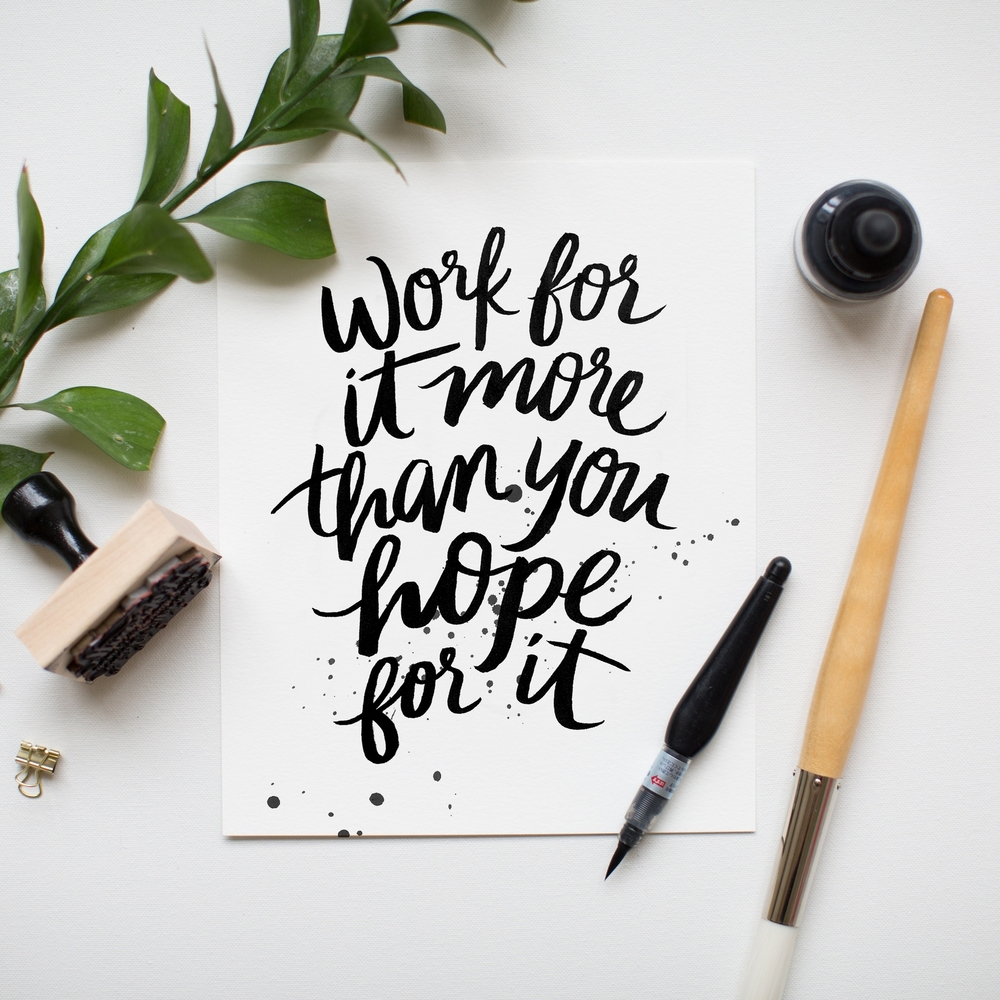 calligraphy motivational quotes by Jenny Highsmith