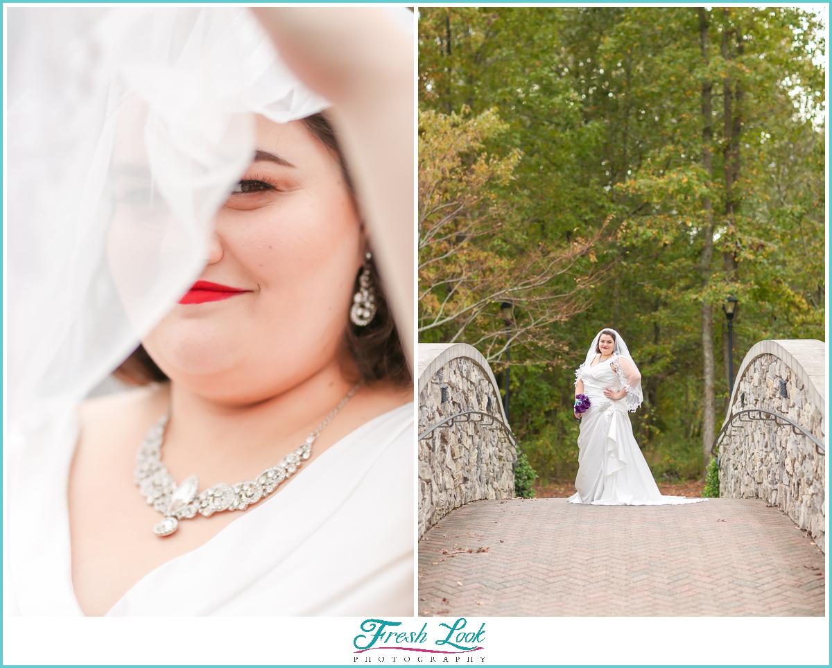 classic outdoor bridal portraits