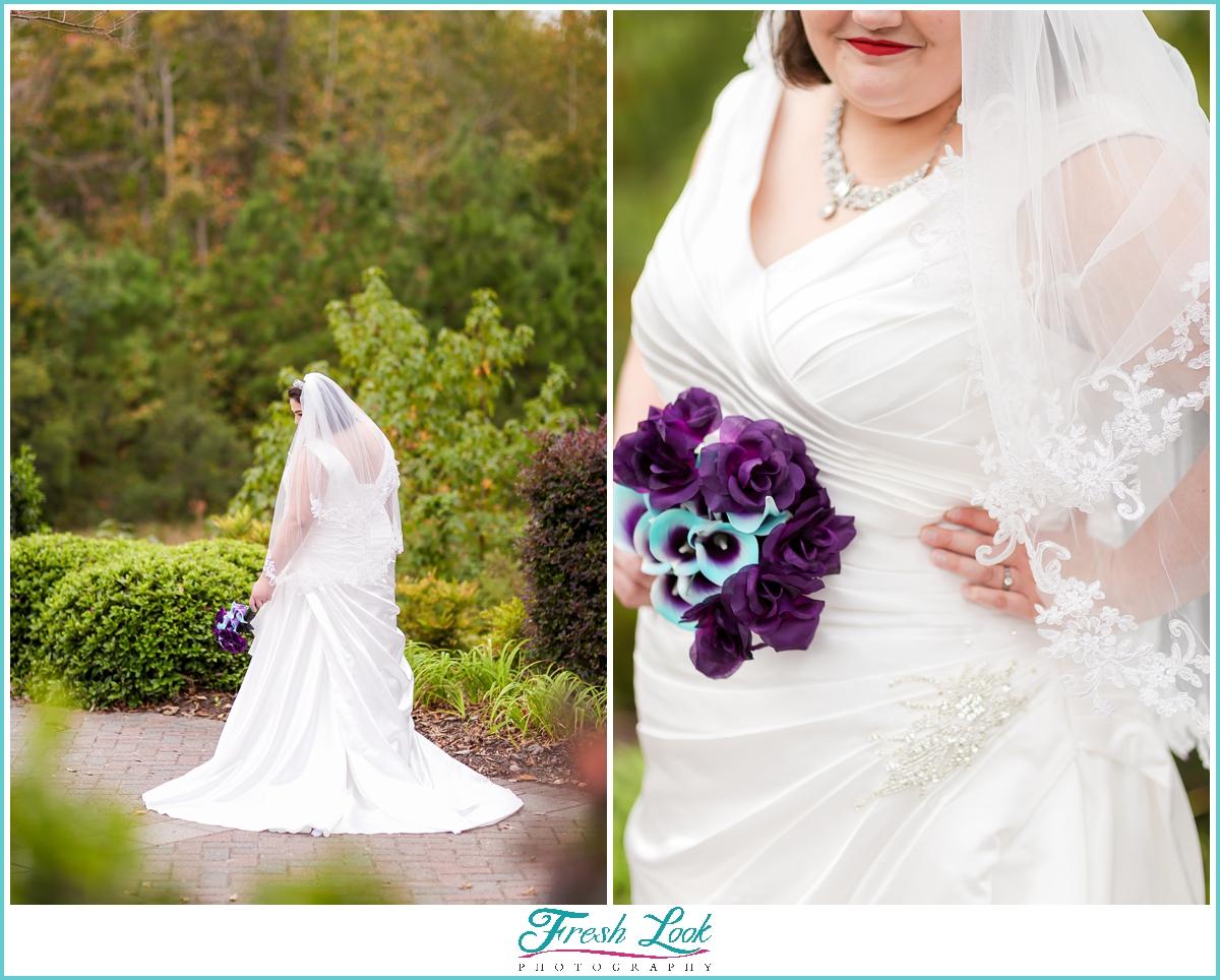 Gorgeous plus size bridal photoshoot