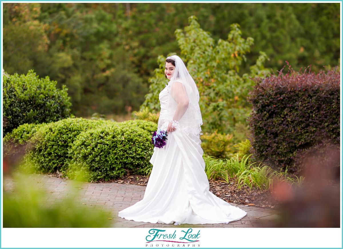 plus size bridal photoshoot