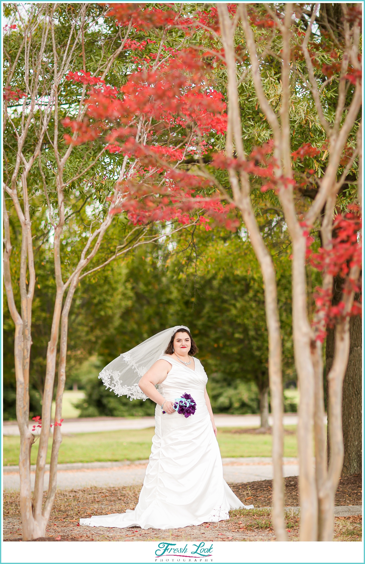 fall plus size bride photoshoot