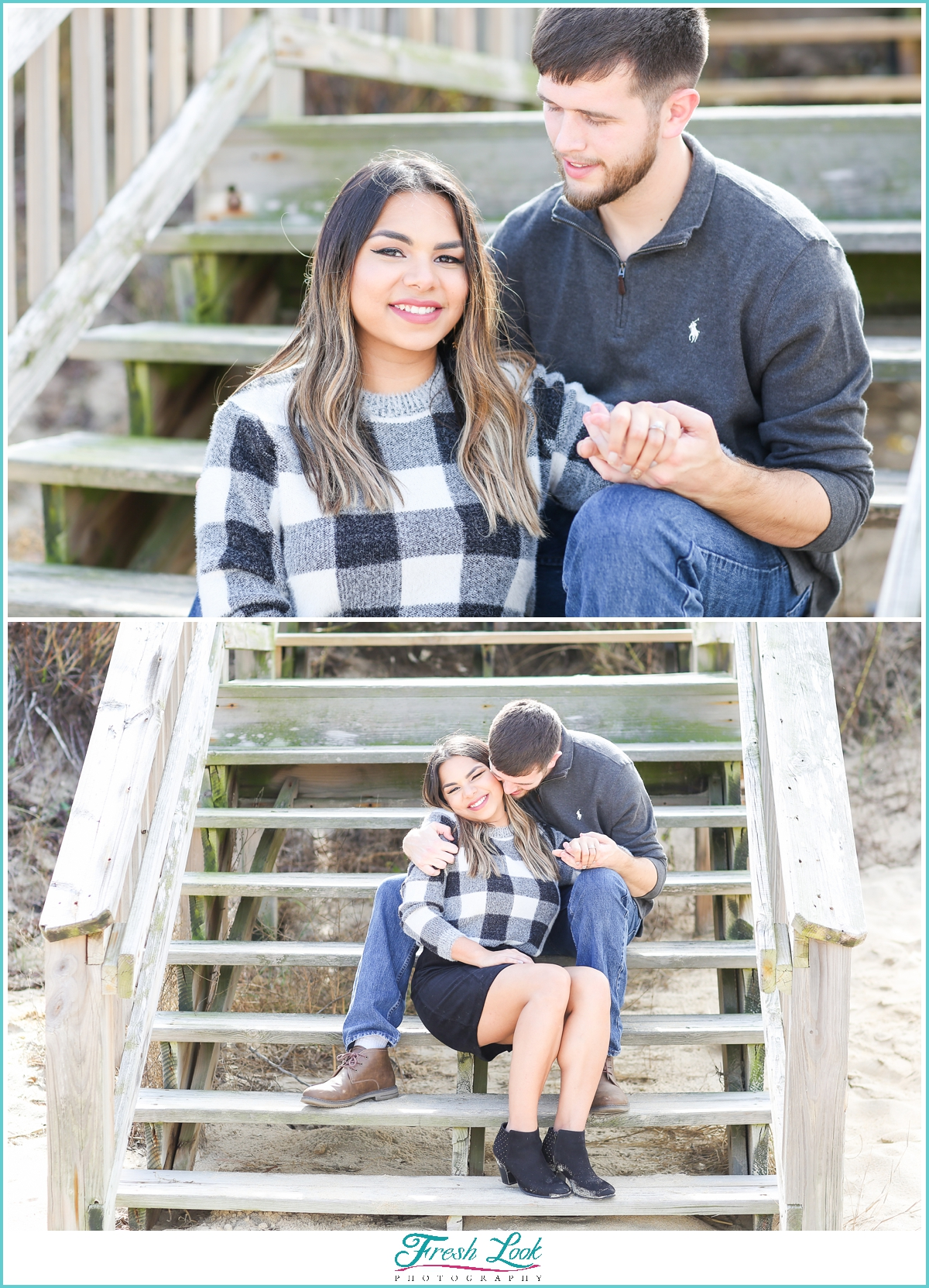 Virginia Beach engagement photos on the beach