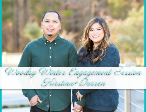 Woodsy Winter Engagement Session | Kirstina+Darren