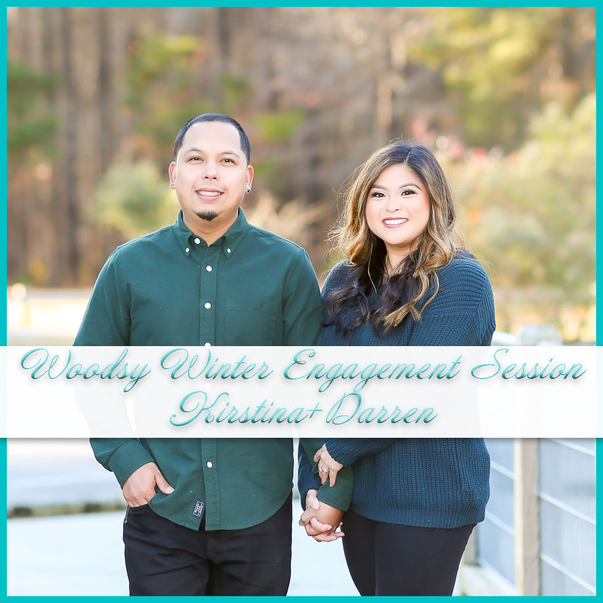 Woodsy Winter Engagement Session