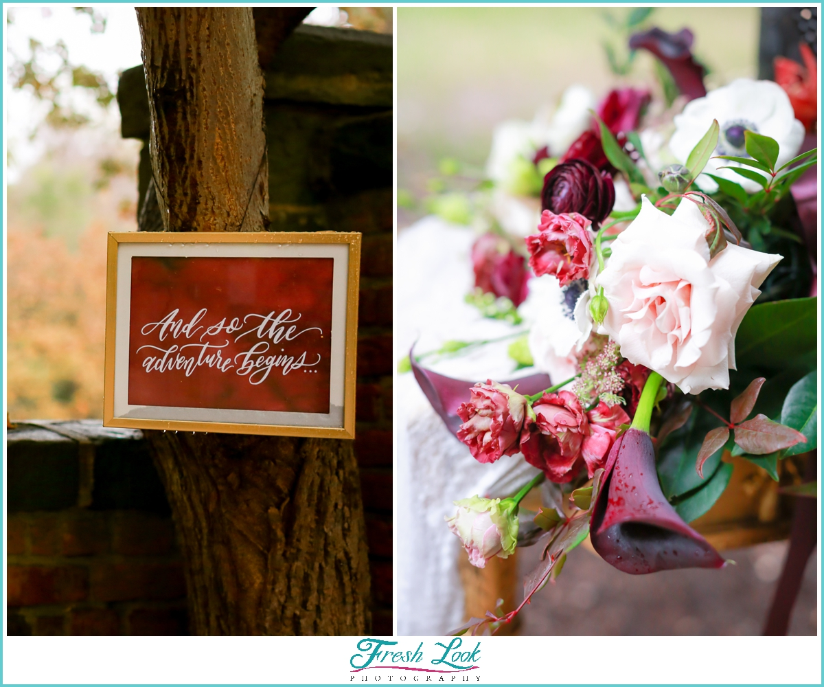 beautiful wedding details and flowers