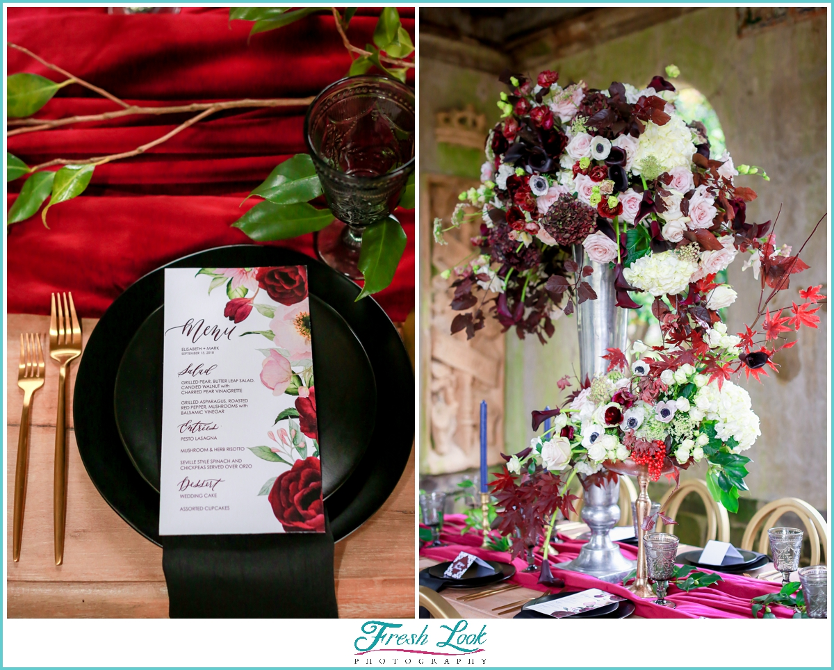 wedding reception florals and decor