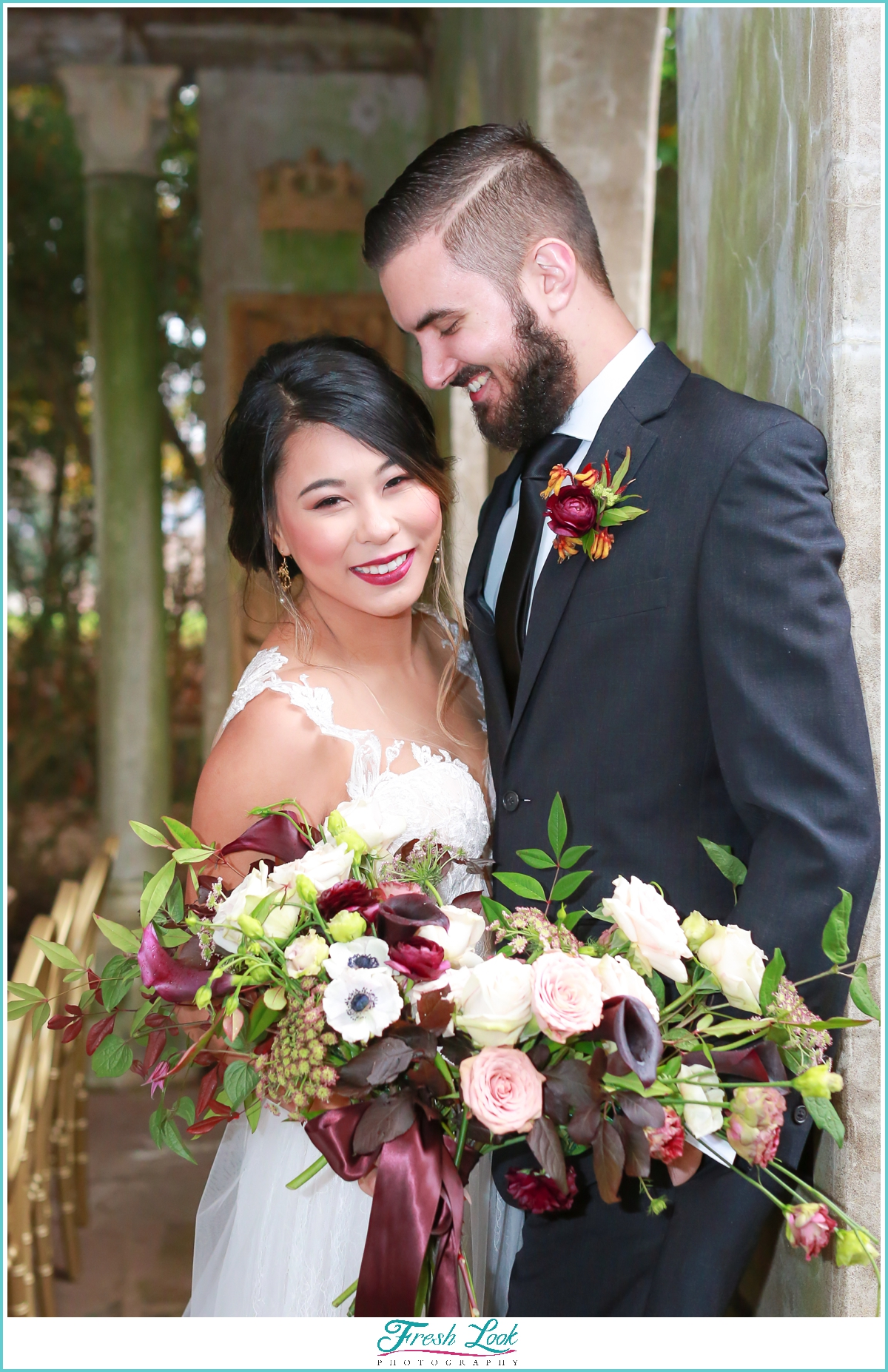 happy bride and groom wedding photos