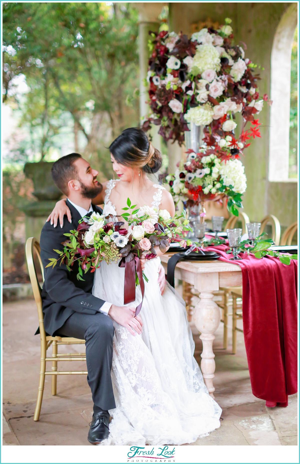 romantic Virginia Beach wedding photos