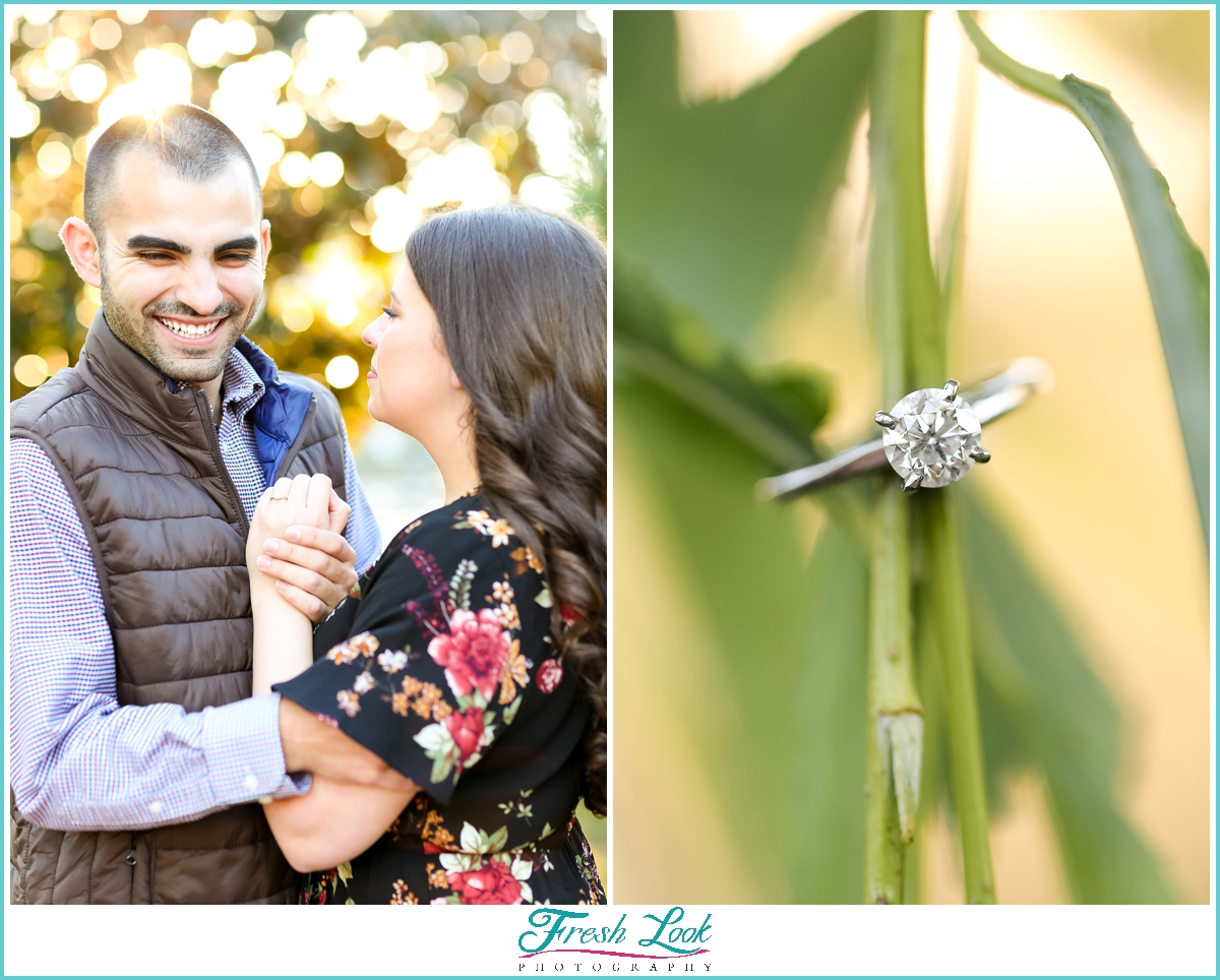 Fall engagement session at sunset