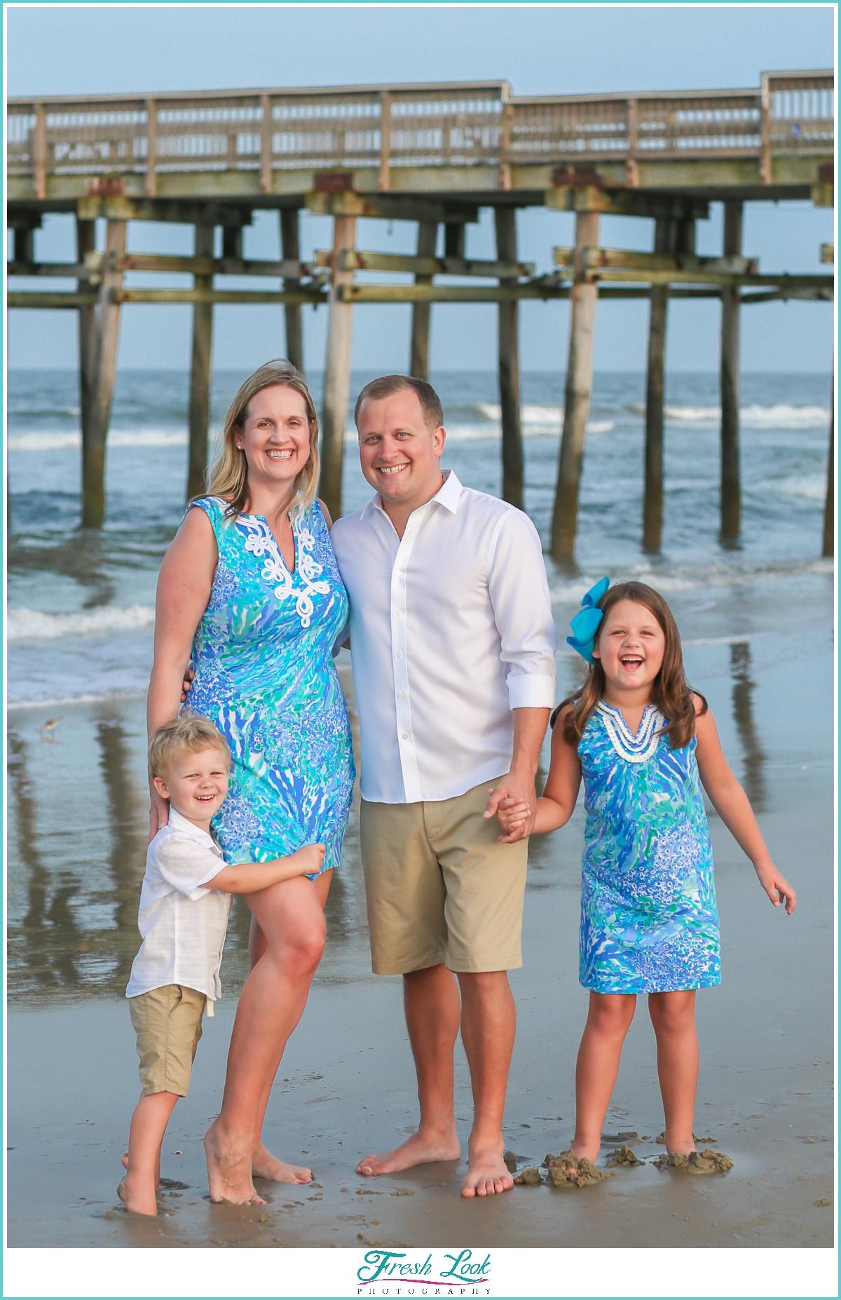 Sandbridge beach family photoshoot