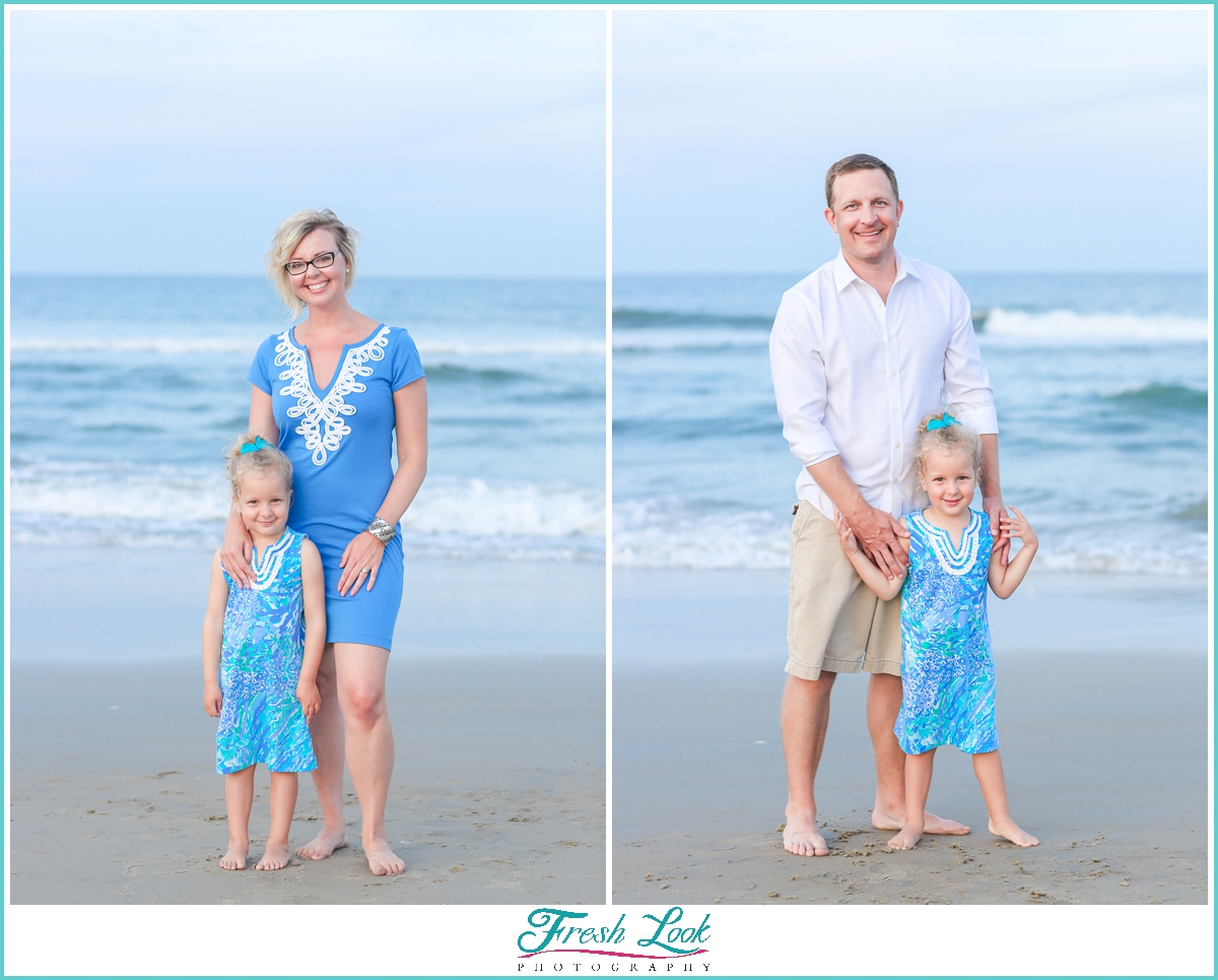photos with mommy and daddy on the beach