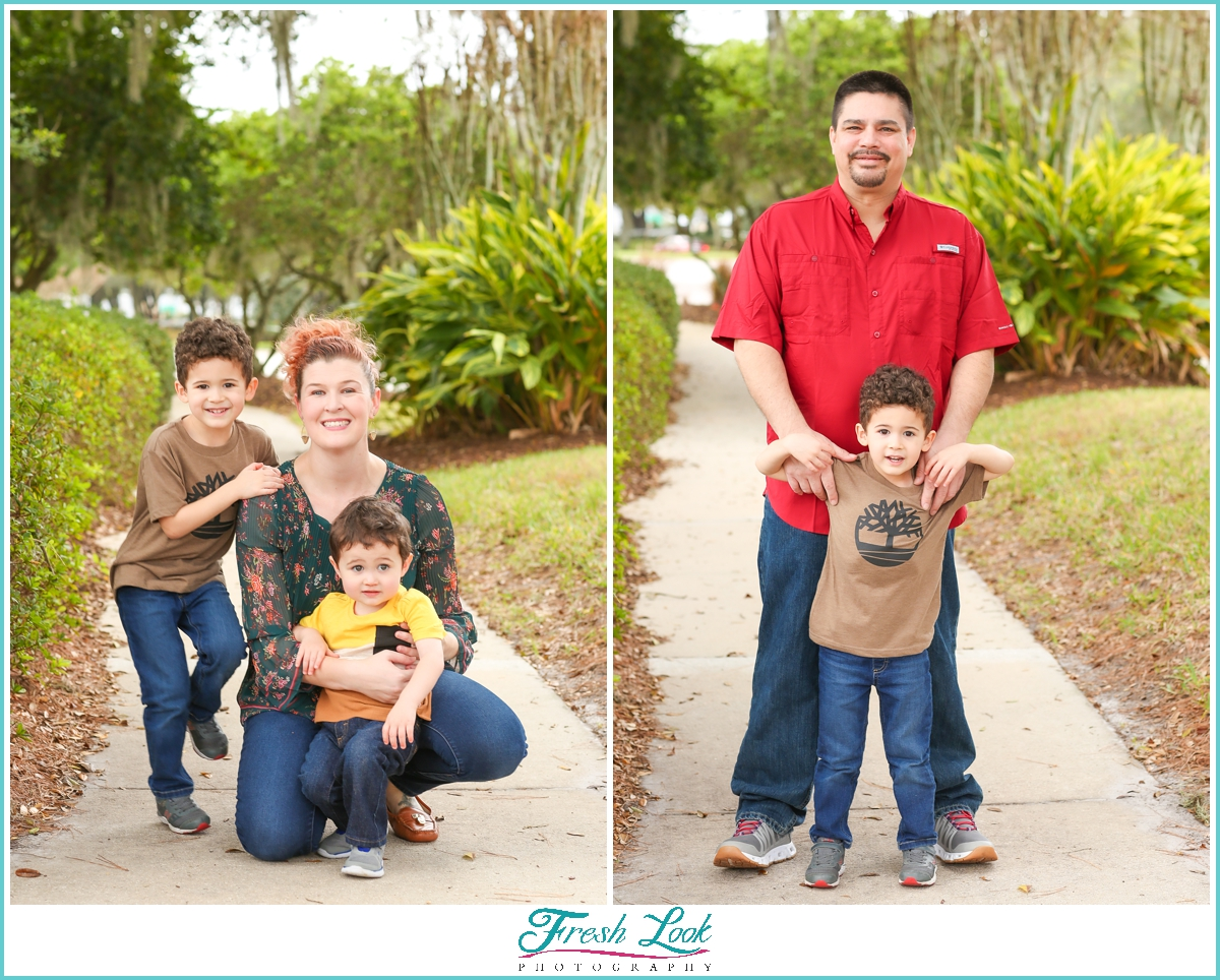 Family photos in Florida