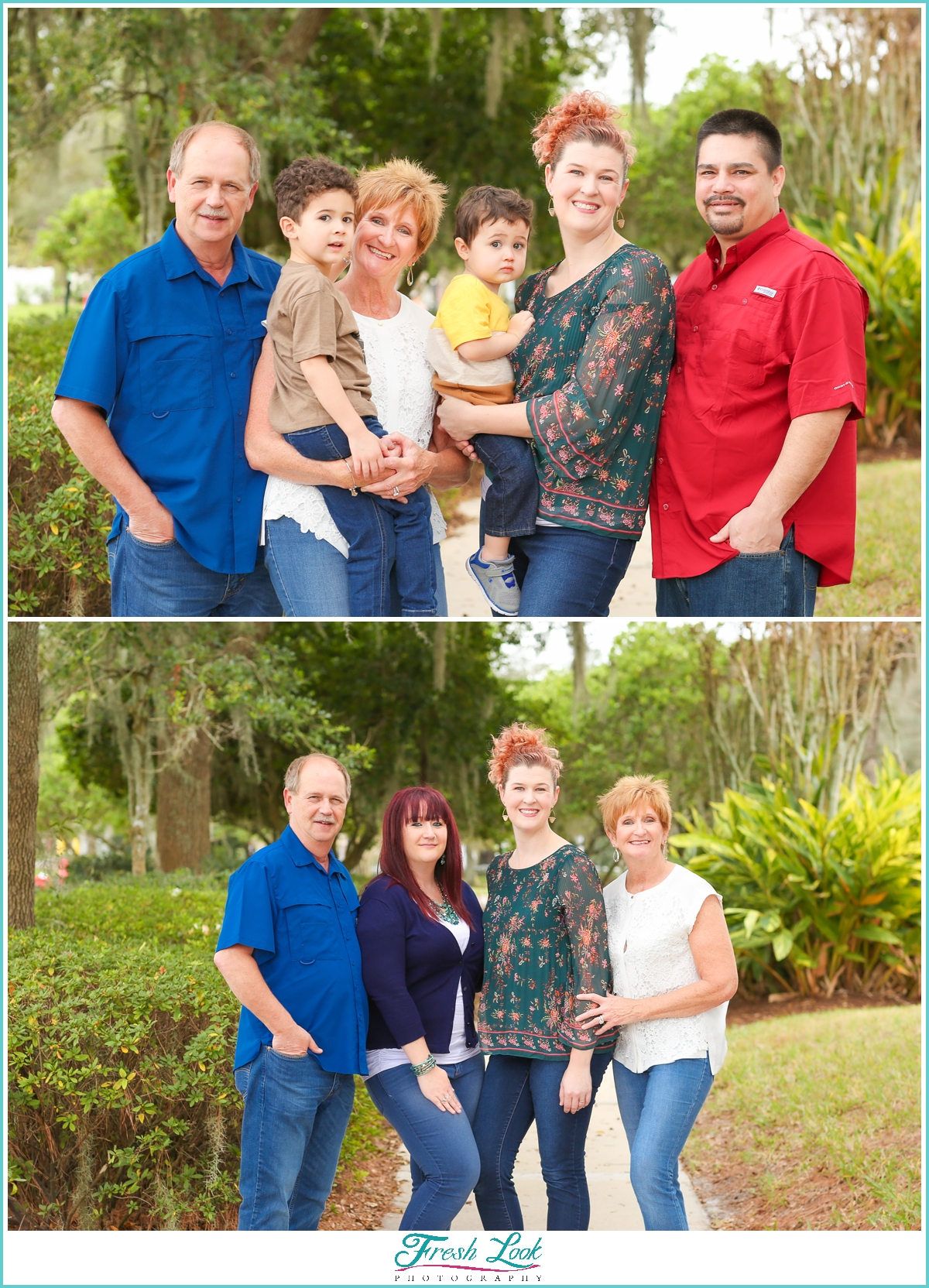 extended family photos in Florida