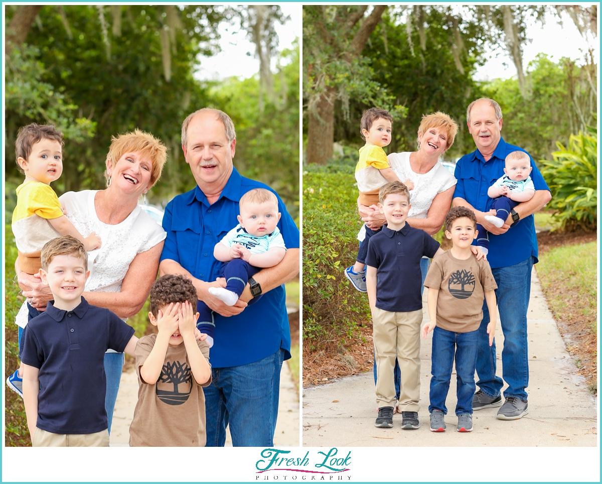 grandparents and grandkids photoshoot