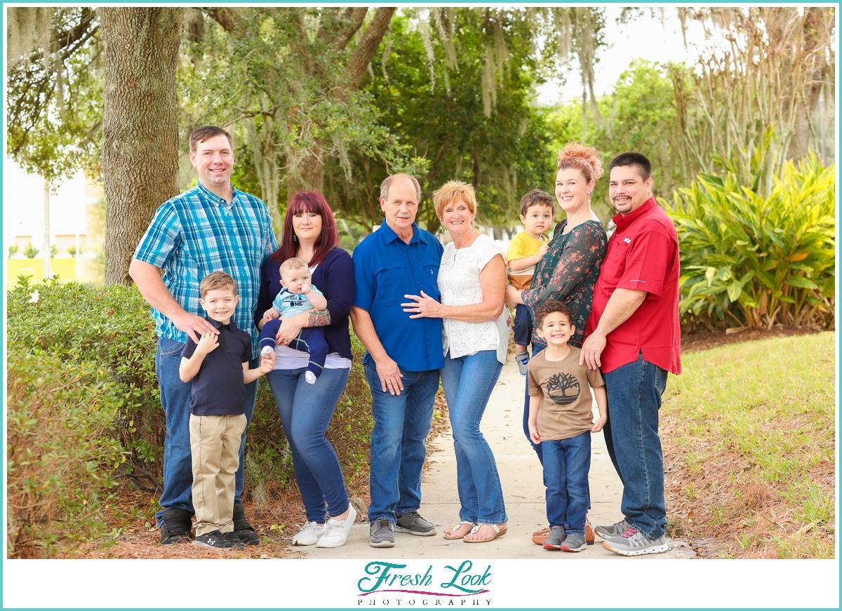 Florida extended family photoshoot