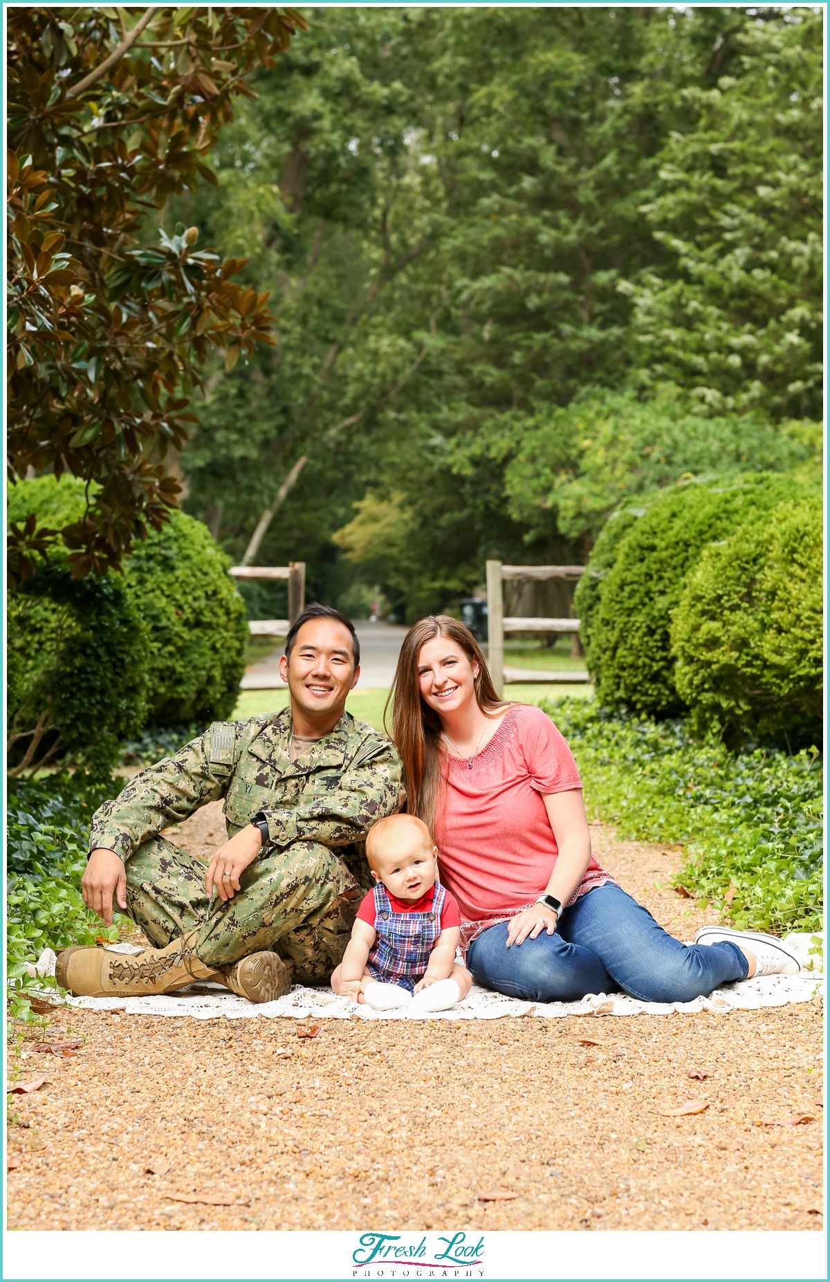 military family woodsy photos