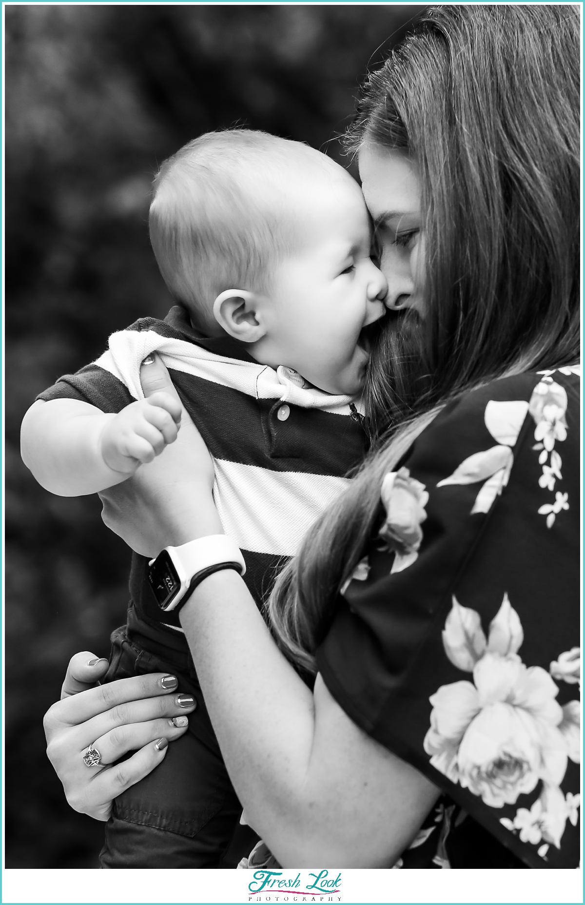 cute mommy and baby photoshoot