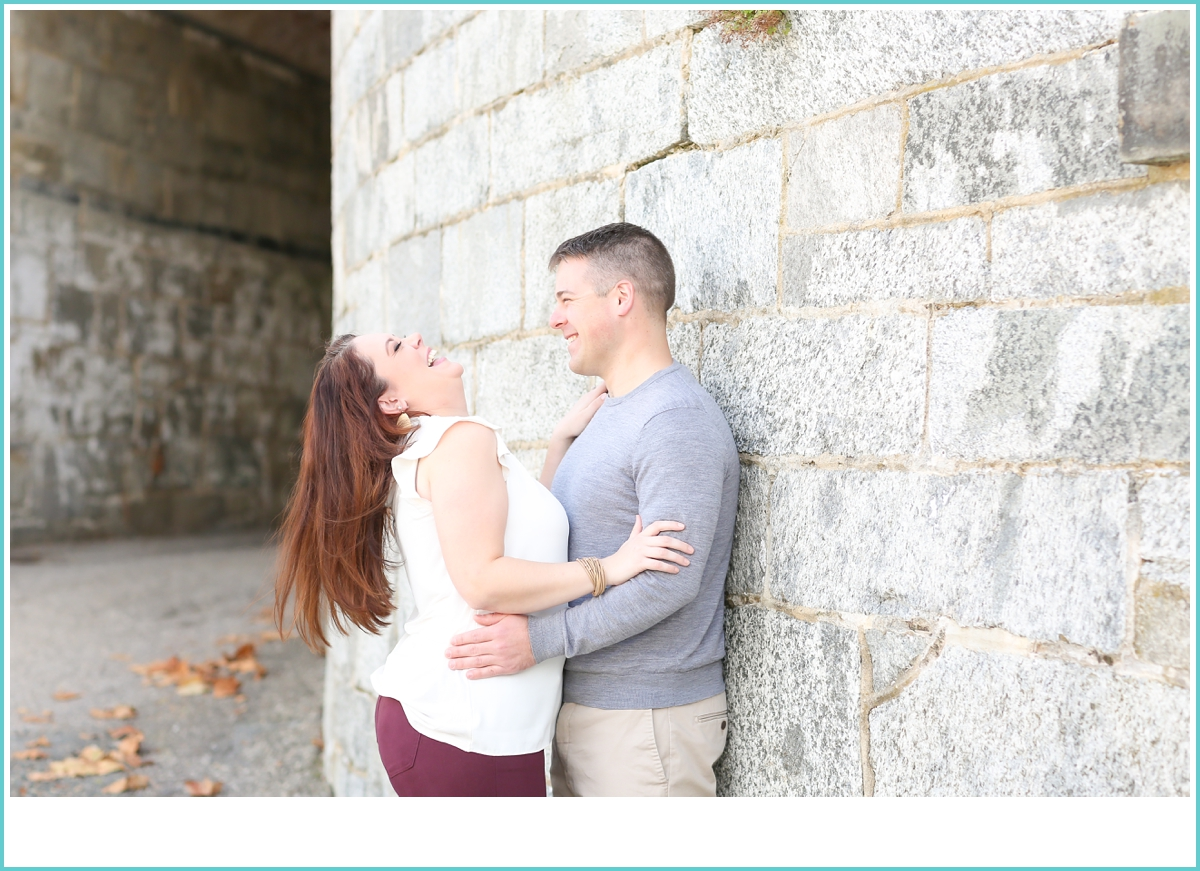 fun laughter engagement session