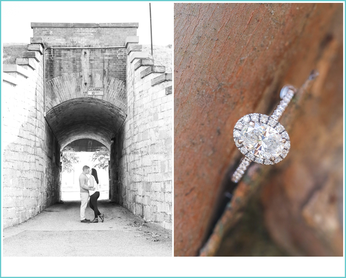 Fort Monroe engagement photoshoot