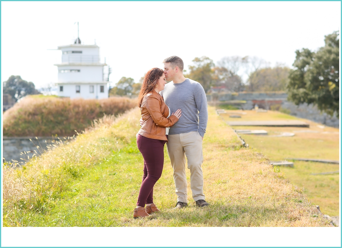 romantic outdoor fall engagement photoshoot