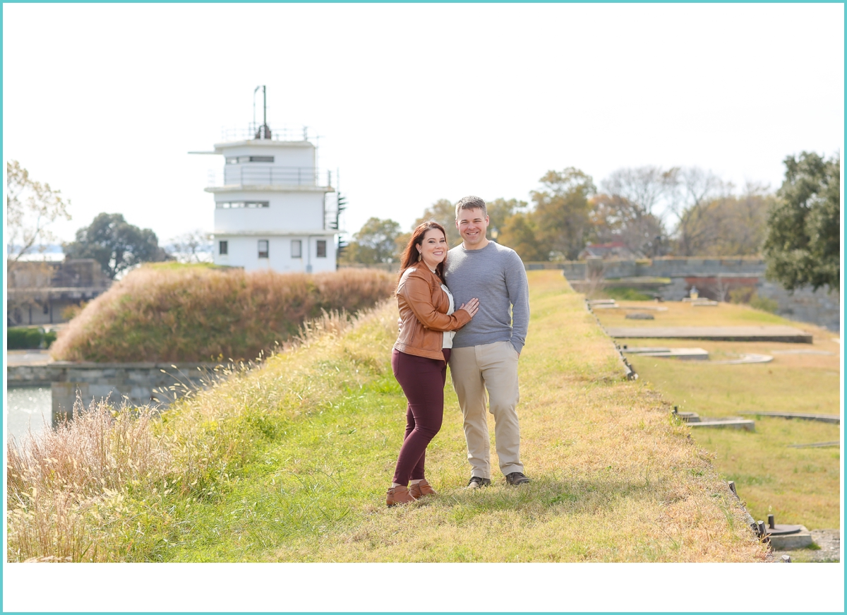 Fort Monroe Fall Engagement Session