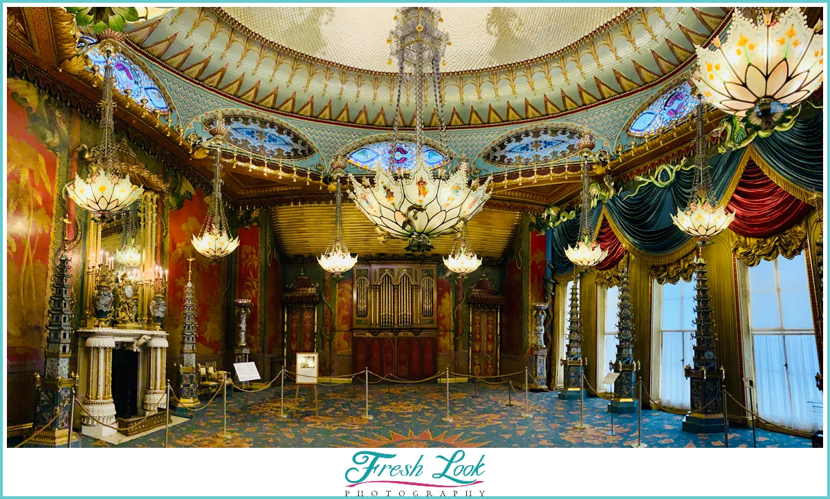 Music Room in the Royal Pavilion Brighton