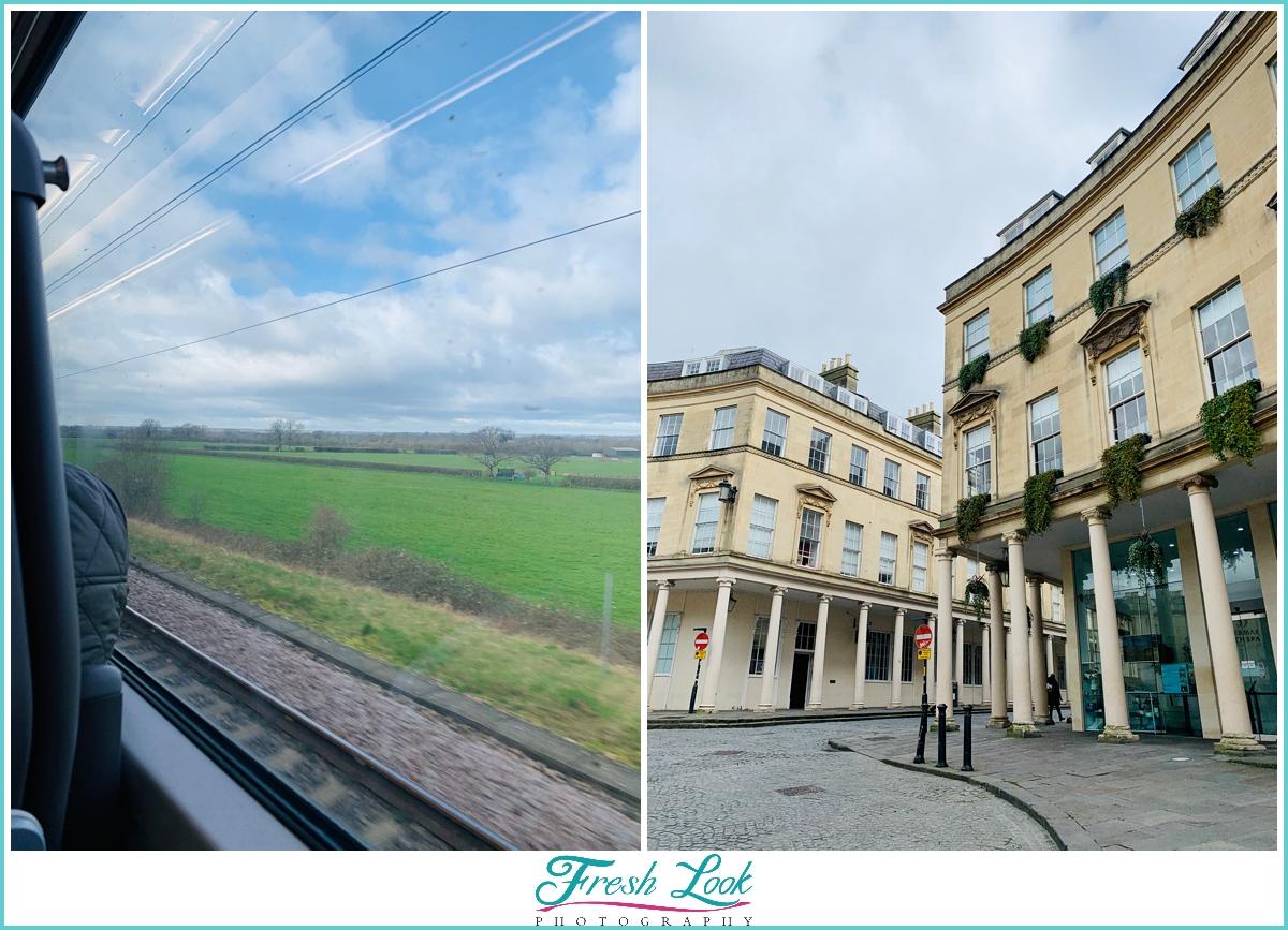 train ride to Bath England