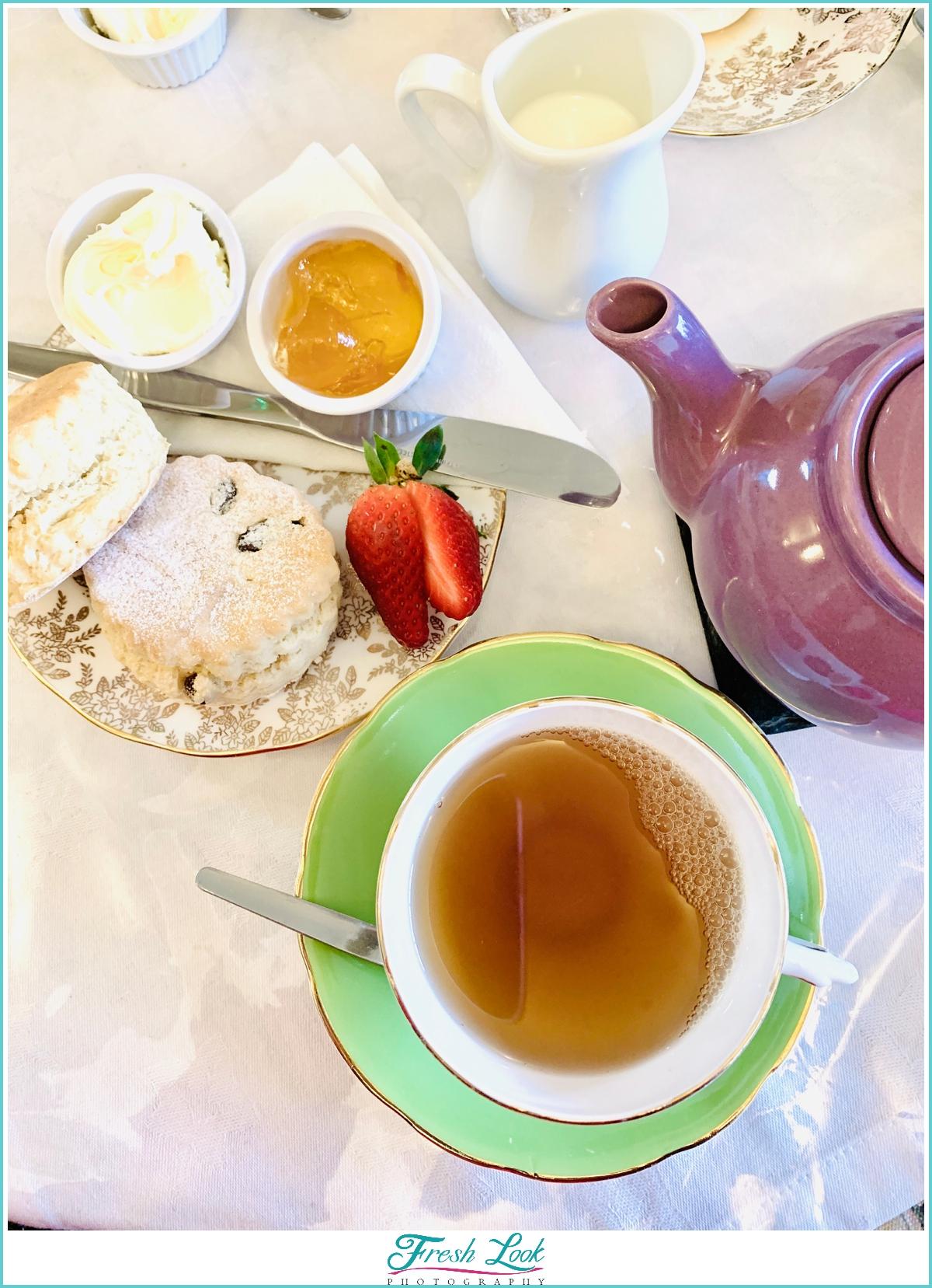 Cream Tea with Clotted Cream and Scones
