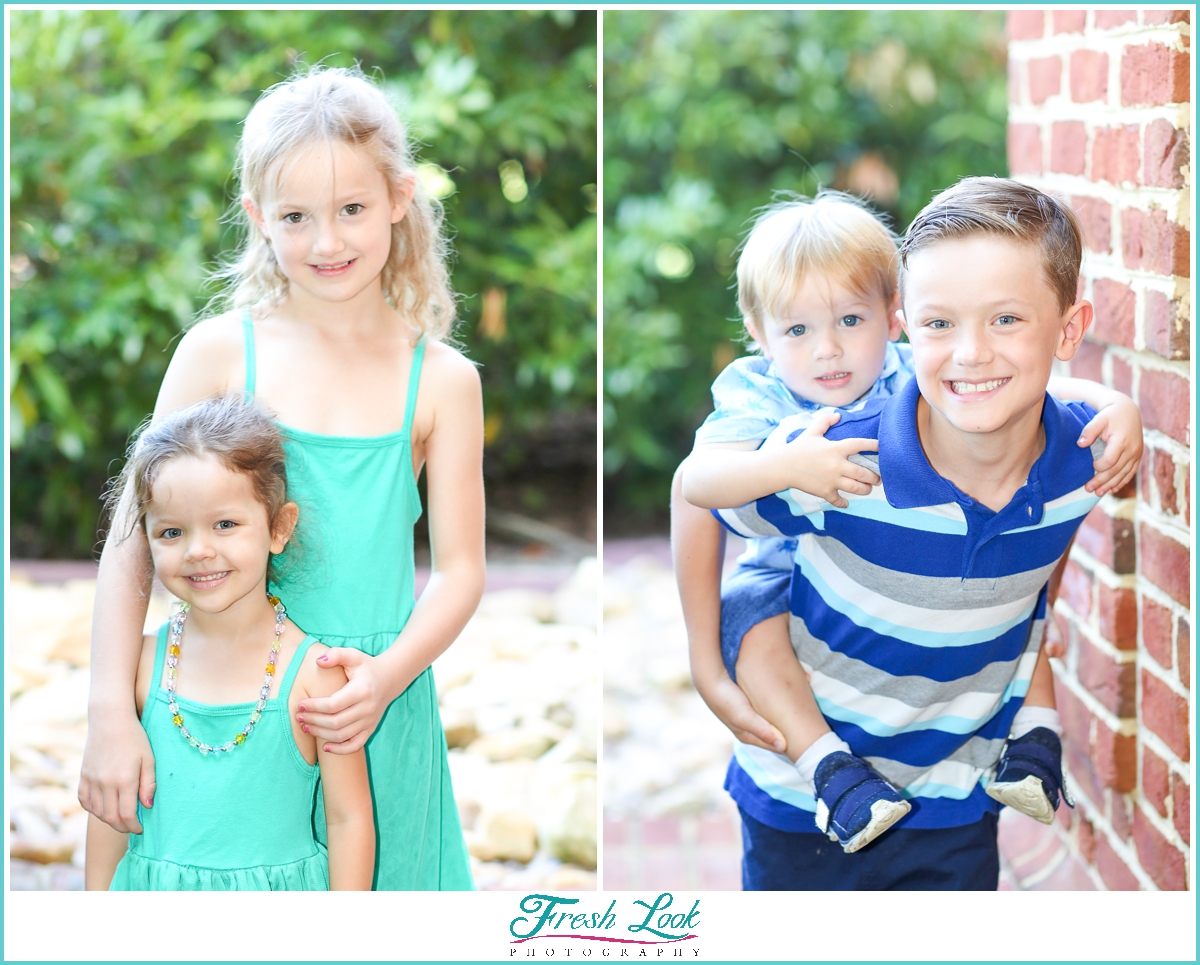 boys and girls family photoshoot