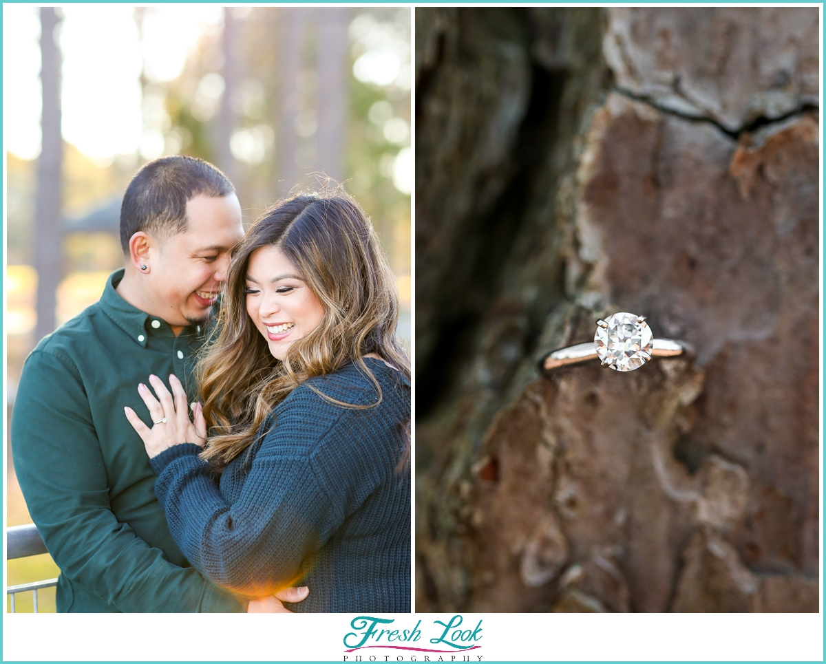 romantic Virginia engagement session
