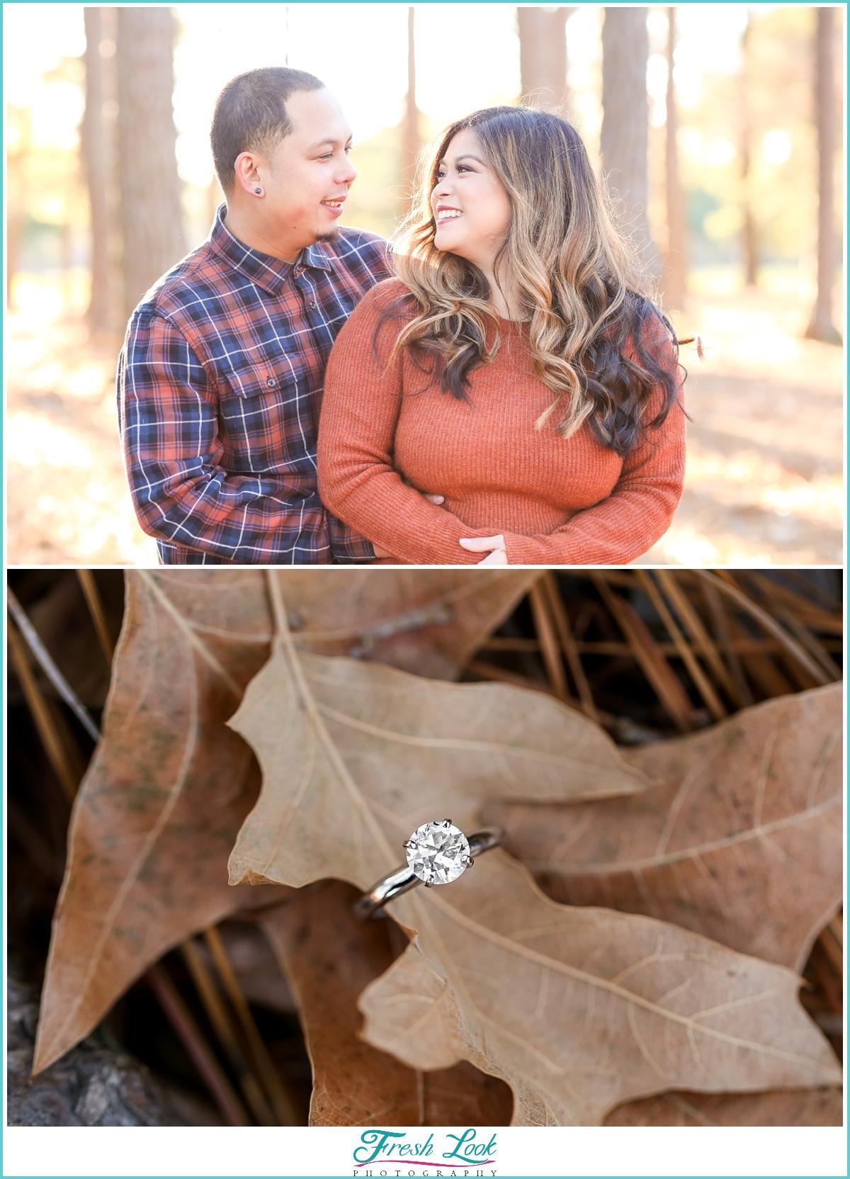 fall engagement photo ideas
