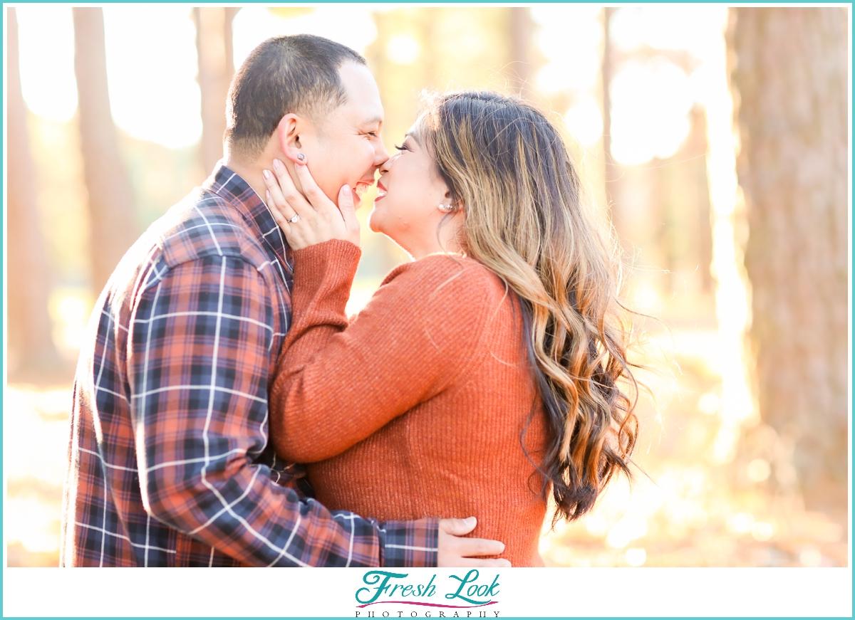 fall engagement photos in Virginia Beach