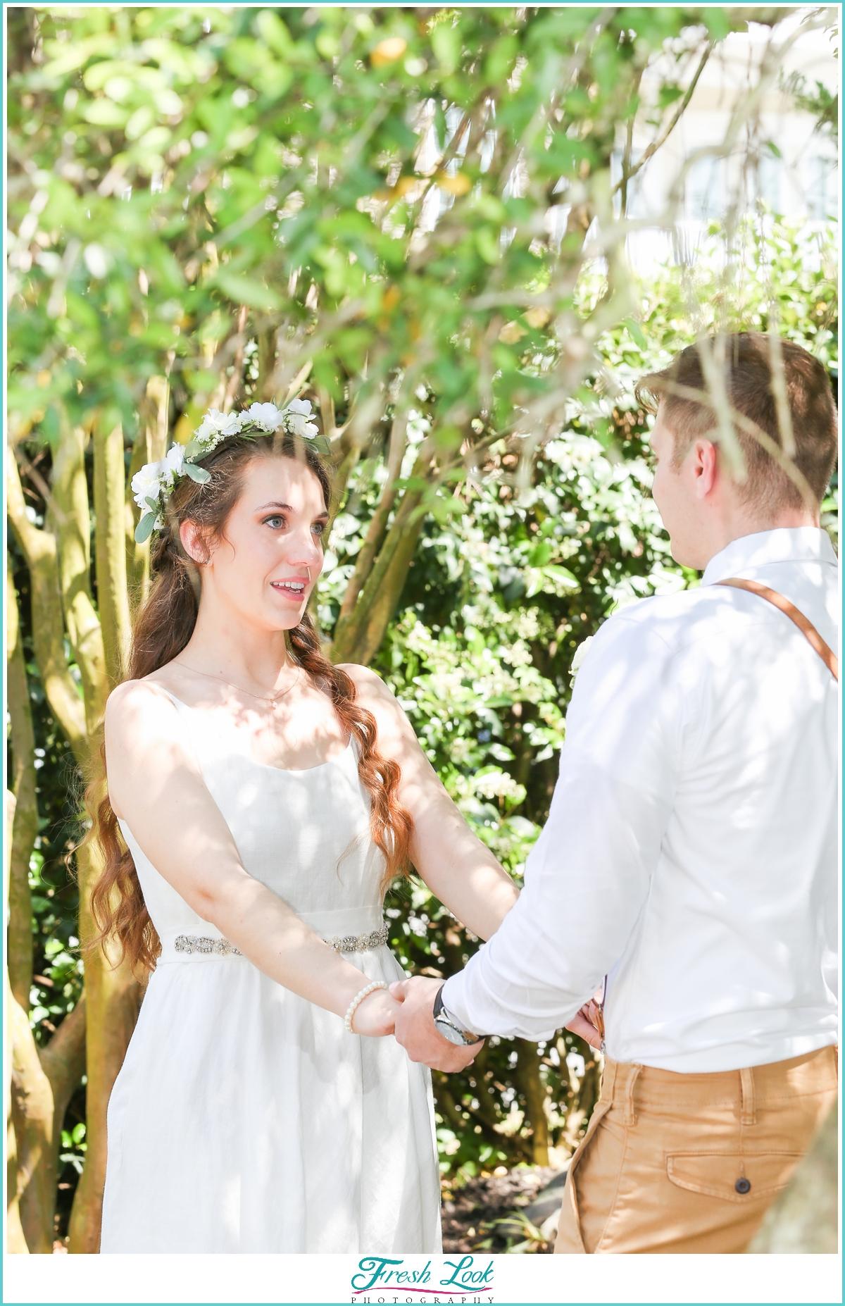 outdoor Virginia Beach wedding ceremony