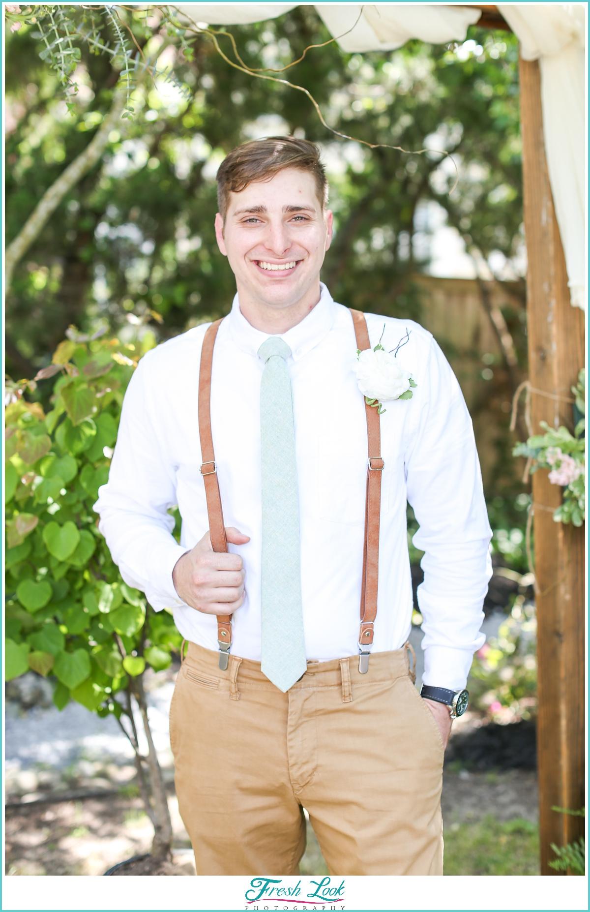 handsome groom portrait