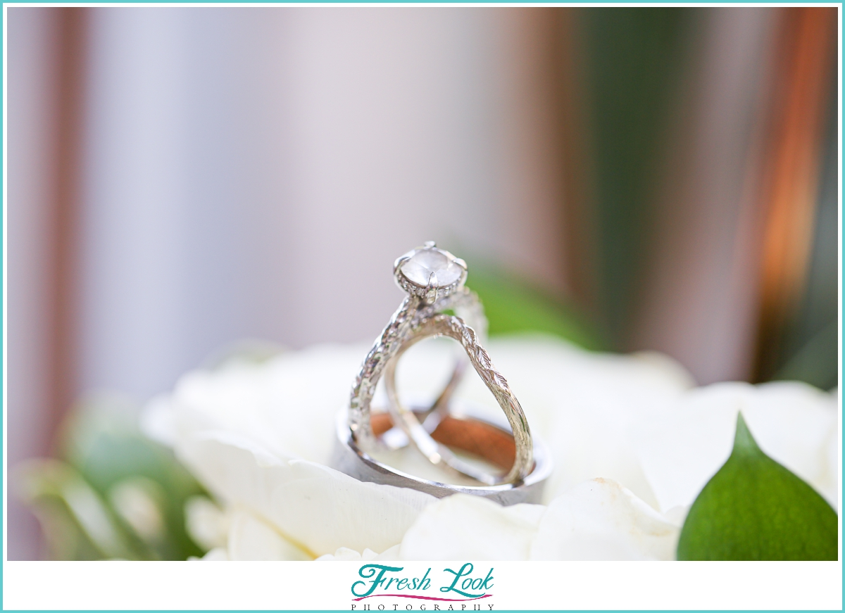 wedding and engagement ring photo