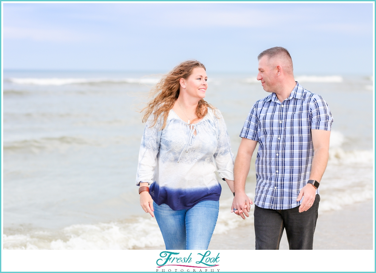 romantic Virginia Beach couples photoshoot