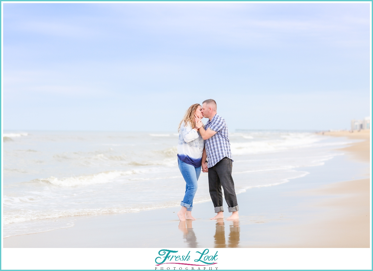 anniversary beach photos in Virginia Beach