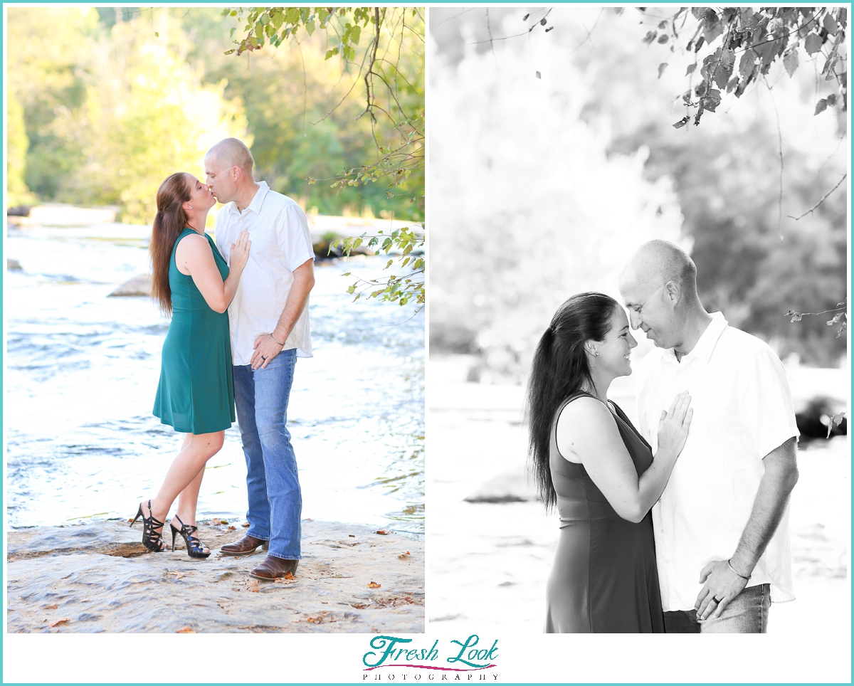 romantic photos by the lake