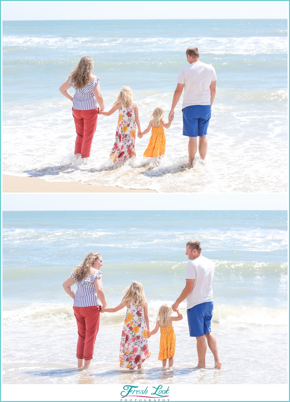 Sandbridge family photos on the beach