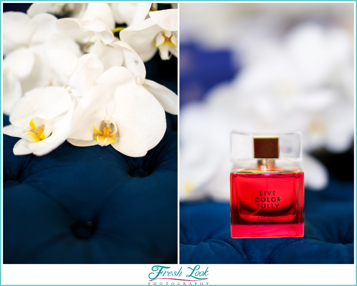 orchids and Kate Spade perfume
