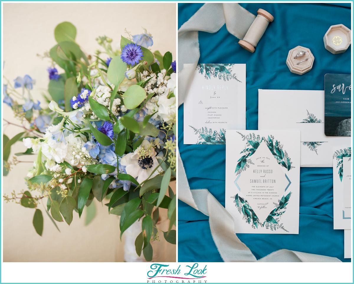 wedding stationery details shot