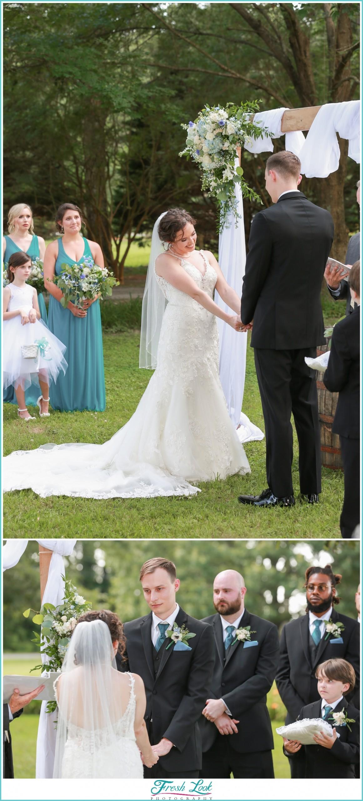 outdoor summer wedding in Virginia