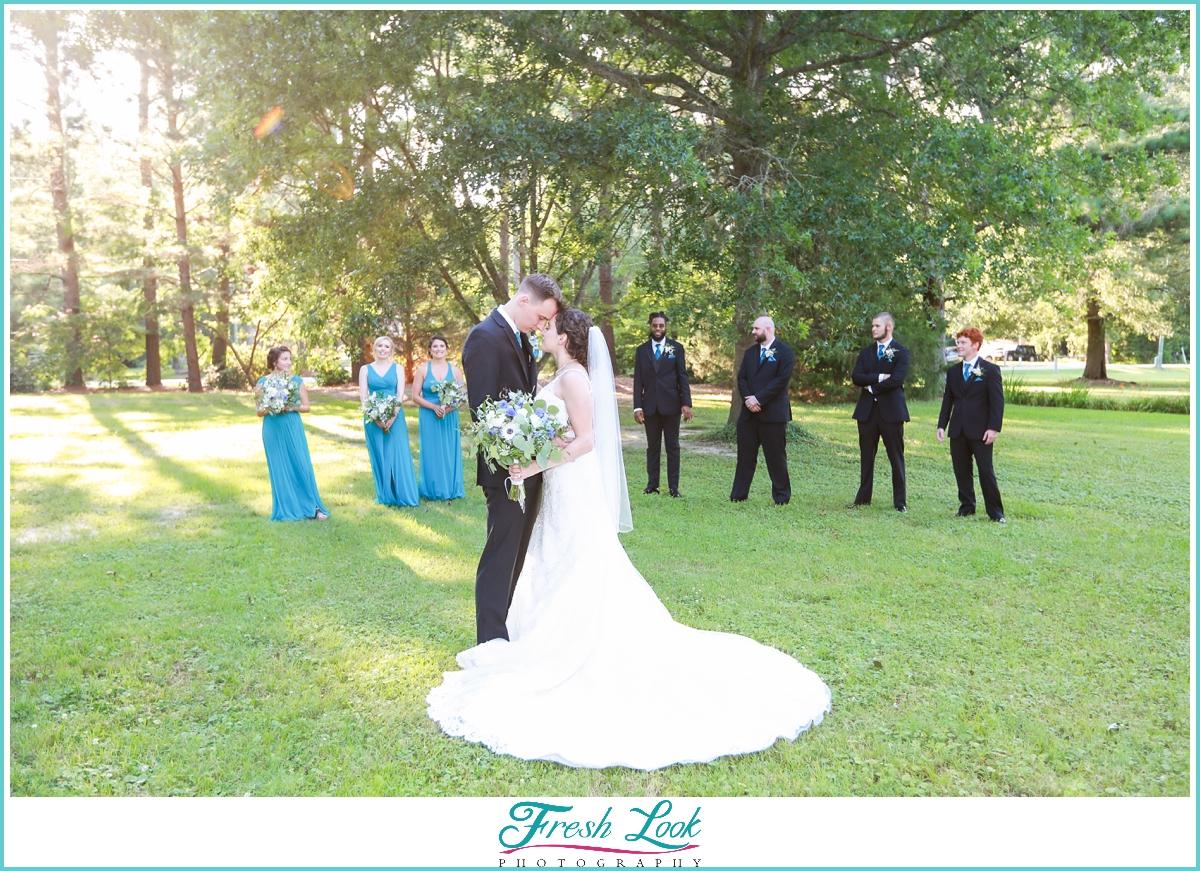 romantic bridal party portraits